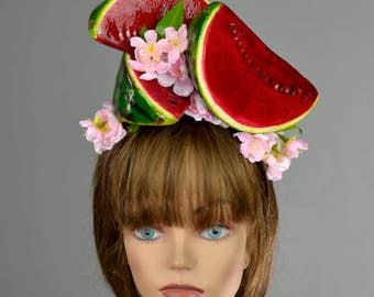 Watermelon Headband Hat Kentucky Derby Hat Party Headband Party Hat Women Hat