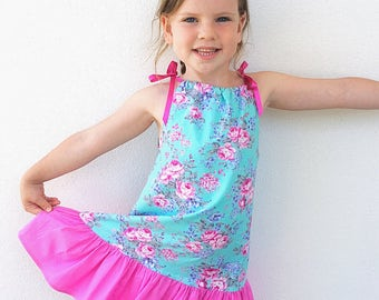 Emily - Pillowcase Dress PDF Sewing Pattern - Newborn to 12 years, easy and quick to sew, handmade pattern