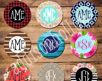 Car Coasters - Set of 2 - Monogram - Neoprene - Mini - Cup Holder - Automobile Accessories - gift for her - gift for him - sweet 16