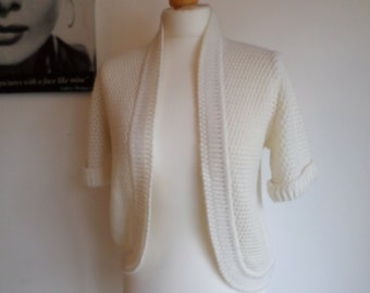 Vintage Bolero Cream colour St Michael made in Uk