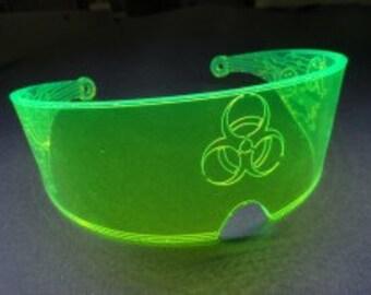 Futuristic Goggles Acrylic Visor Face Lenses Cyberpunk CyberGoth