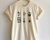 Coffee T-Shirt, Food Shirt, Coffee Screen Printed T Shirt, Soft style tee