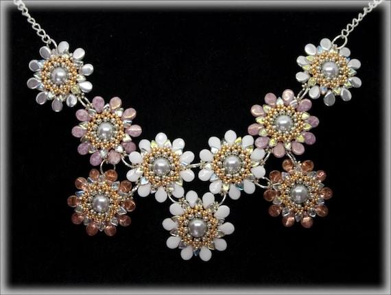 SpringFlowers necklace beading TUTORIAL