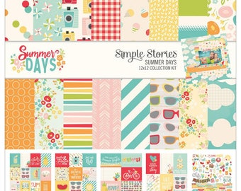Simple Stories Summer Days Collection Kit 12x12