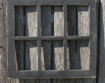 Hand made 6 - 5 X 7 pane  window frame