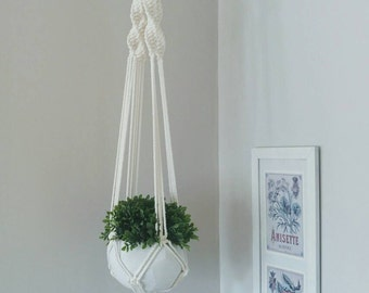 Macrame Plant Hanger, Boho Decor, Hippie Decor, Shabby Chic Decor, Pot Holder, Home Garden, Urban Garden