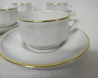 Espresso Cups French Espresso Mocha Set French Porcelain Alpico