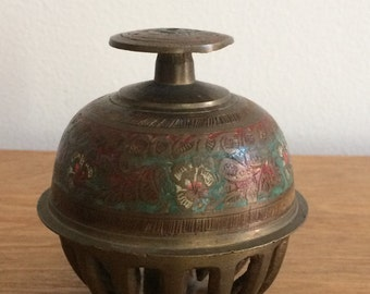 Vintage Decorated Brass Elephant Bell