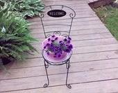 Large Purple Ceramic Flow...