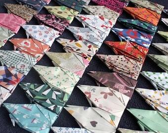 100 Origami Paper Cranes Wedding Christmas Gift Event  Decor Bird Paper Goods Crane Flower Design Pattern