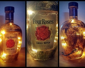 Four Roses Small Batch Bourbon Bottle Light with LED Lights