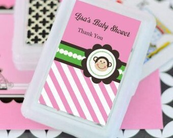 Baby Shower Playing Cards, Personalized Playing Cards, Baby Shower Favors,  Monkey Playing Cards, Deck of Cards (2033)