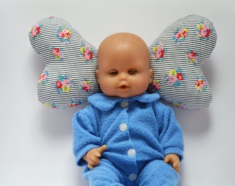 Blue and white headrest for babys