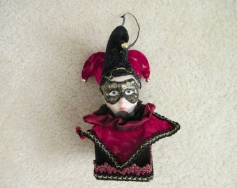 Holiday Court jester jack in the box ornament
