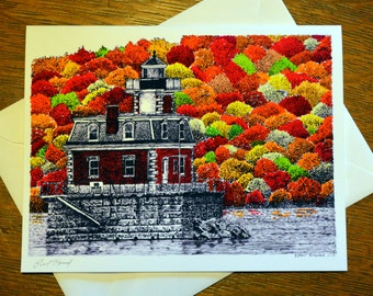 Autumn Lighthouse Note Cards