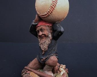 Tom Clark Gnome Figurine #5113 Atlas Holding Baseball 1990 Cairn Studio Ed #74
