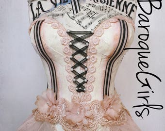 Dress Form Mannequin, Blush, Shabby Chic French Ballerina, Vintage Style, Tabletop Size