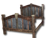 Weathered Gray Arched Bed in Platform Style - King SIze