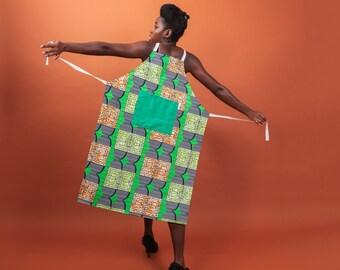 Apron - African print apron - kitchen apron - African fabric apron - womens apron - mens apron - kitchen and dining - kitchen linens