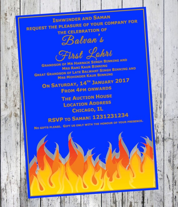 Lohri Invitation First Lohri Baby Invite Diy Printable
