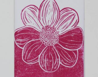Dahlia Lino Prints