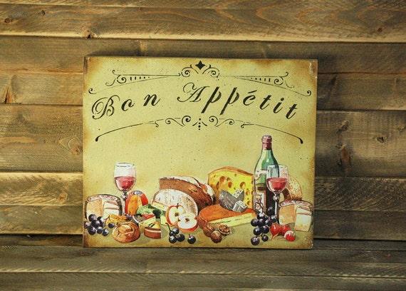 Christmas Sale 50%OFF Bon Appetit Wooden Sign Kitchen Signs Vintage Style  Bon Appetit Sign Rustic Kitchen Sign French Signs Wooden Kitchen S