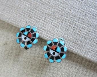 Zuni earrings, Zuni earings, Zuni jewellery, Zuni jewelry, Boho, Tribal earrings, tribal jewellery, geometric earrings, statement earrings