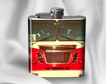 SALE! Hip Flask -  Fire Truck