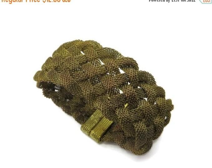 Vintage Braided Gold Mesh Bracelet, Magnetic Clasp Bracelet