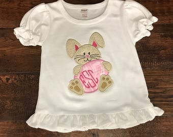 Easter Shirt, Easter Bunny Shirt, Easter Frill Shirt,  Personalized Baby Outfit