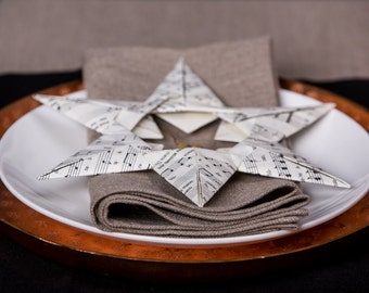 Soft Washed Large Linen Napkins / Set of 2, 4, 6, 8, 12 Stonewashed Linen Napkins / Bespoke Handmade Lunch, Dinner Napkins in Rustic Natural