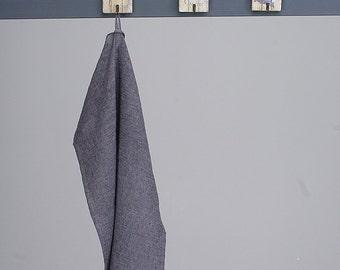 Linen Tea Towel / Linen Kitchen Tea Towel Dark Grey Pure Natural