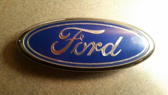 Classic Ford Emblems Decals : Vintage ford grille emblem e b c aa