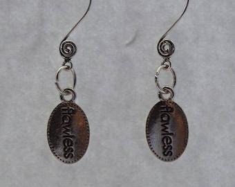 Flawless Swirl Ear Wire Earrings