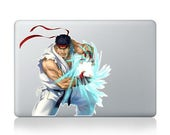 Macbook 13 inch decal sticker Street fighter Ryu Apple art for Apple Laptop