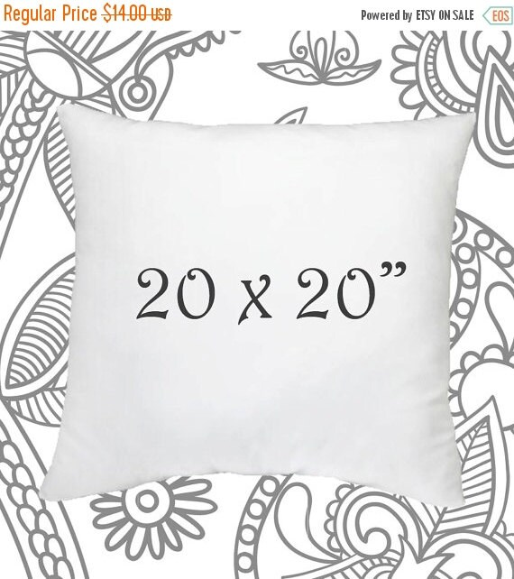 sale ends soon 20 x 20 inch pillow insert faux down by lilypillow. Black Bedroom Furniture Sets. Home Design Ideas