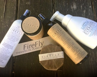 FIREFLY Skincare for Energy || Moisturizers, Spritzer & Soaps || Formula of 7 Therapeutic Plants || Just the Boost You Need || Fresh Smell