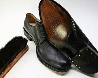 Black leather men shors