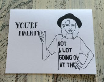 SALE - You're 22!! - Taylor Swift Birthday Card