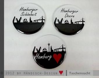 Hamburg Pocket mirrors - motif of your choice