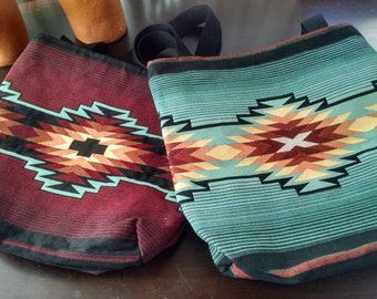 Native design tapestry TOTE Bag, handloomed in pure cotton.....Fire or water?