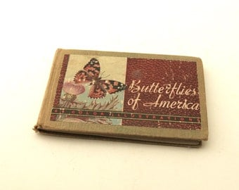 Vintage Pocket Sized Book//Butterflies and Moths of America//Whitman//1930s