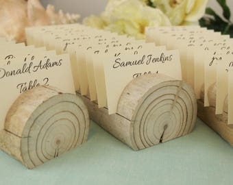 Natural Driftwood Place Card Holders Set Of 3 Wedding Display Beach Table