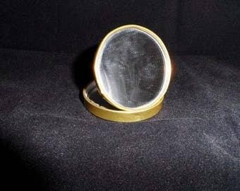 Vintage German Compact Mirror-Ladies Cosmetic Mirror Case-Vanity-Purse-Magnifying-Self Check-Personal-Lipstick-Orphaned Treasure-033017N