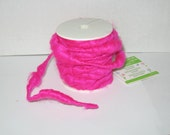 Hot Pink color, Wire Wrapped Yarn, New, Wired Yarn, 32 feet each Spool,  floral, jewelry, weaving , crafting supplies