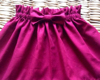 Burgundy Bow Skirt