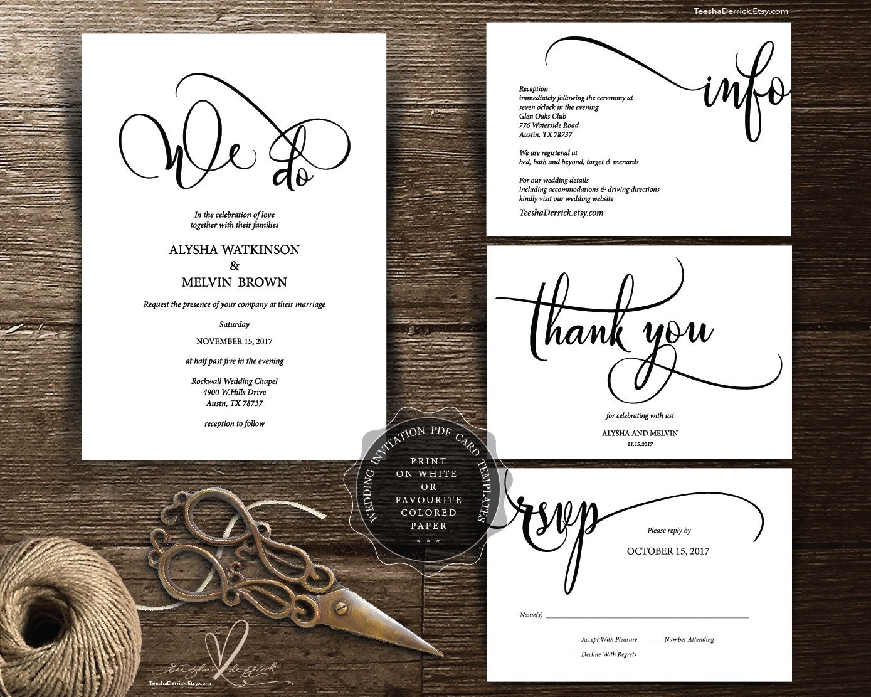 Wedding Invitation Card Download: We Do Wedding Invitation Cards In Instant Download PDF