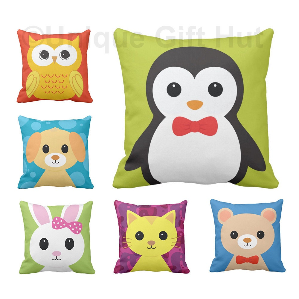 Cute Animal Throw Pillow-Penguin Pillow Cover-Quality Home