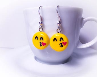 Emoji earrings handmade fimo//gift for you//birthday//gift set for girls