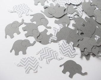 "Gray & Chevron Elephant Confetti, Baby Shower Party Decoration,  Elephant Birthday Party, Table Confetti, 1.5"", 200 Ct."